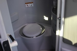 charter bus private restroom
