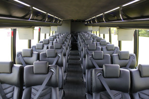 executive mini bus rental interior